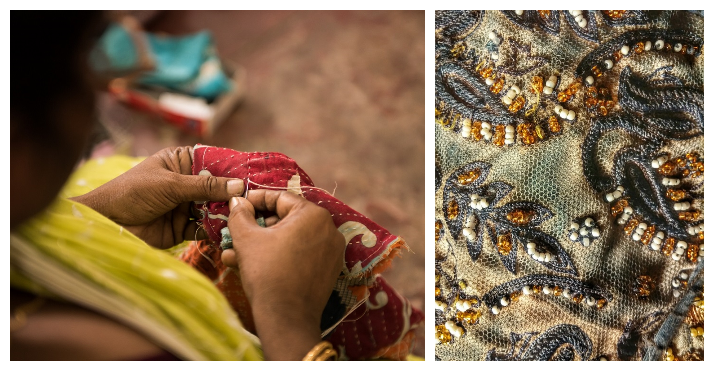 Traditionelle Textilproduktion in Indien